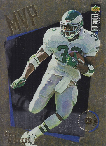 1996 collector's choice mvp gold ricky watters rb eagles