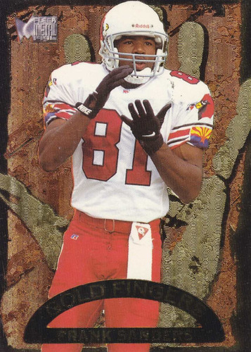 1996 fleer metal gold fingers frank sanders wr cardinals