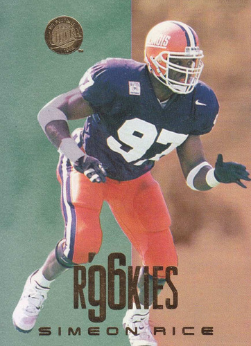 1996 fleer ultra rookies simeon rice de lb cardinals