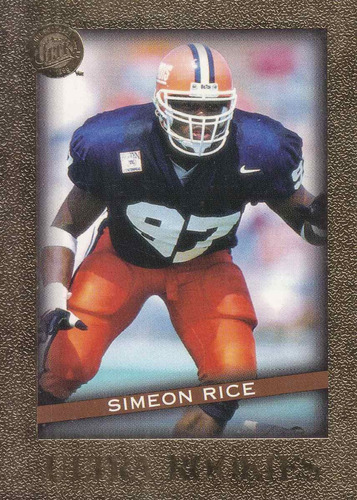 1996 fleer ultra rookies simeon rice lb cardinals