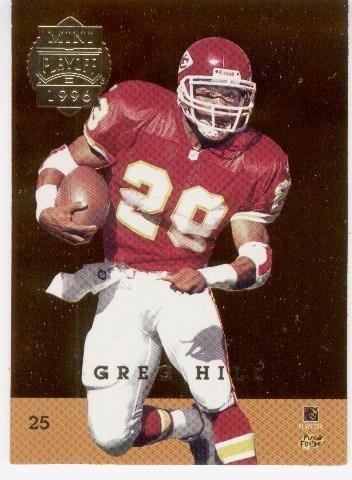 1996 playoff mini back to backs marshall faulk greg hill