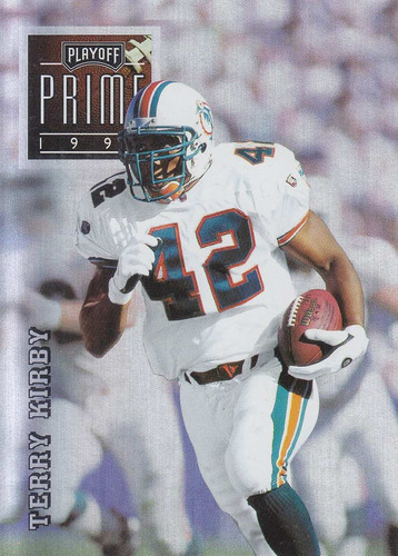1996 playoff prime silver terry kirby rb dolphins