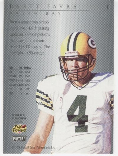 1996 playoff trophy contenders brett favre packers