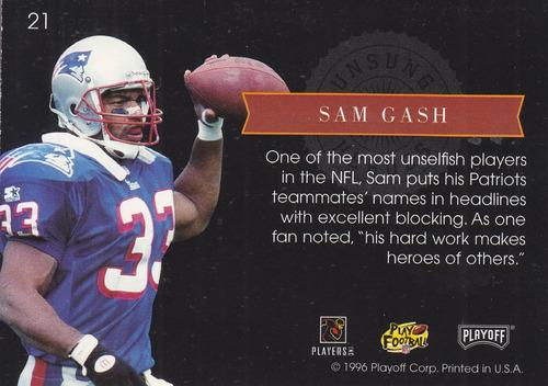 1996 playoff unsung heroes sam gash patriots