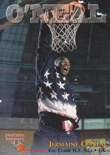 1996 score board rookies jermaine o'neal blazers