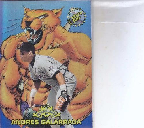 1996 stadium club megaheroes big cat andres galarraga col