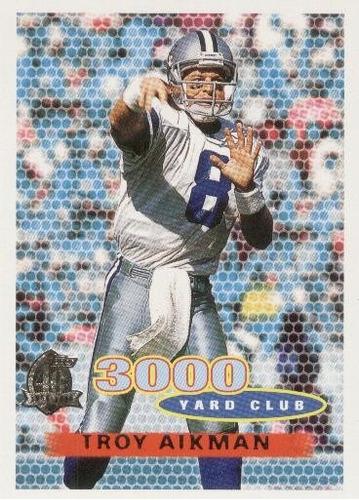 1996 topps 3000 yard club troy aikman dallas cowboys