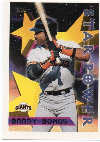 1996 topps star power barry bonds san francisco giants