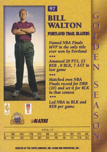 1996 topps stars golden season bill walton tblazers
