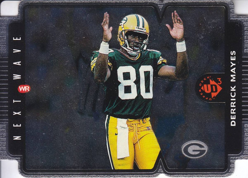 1996 ud3 fx die cut next wave derrick mayes wr packers /1000