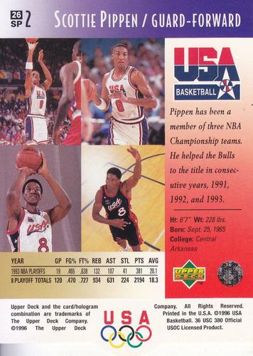 1996 upper deck usa scottie pippen bulls