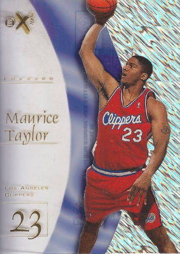 1997-98 e-x2001 rookie maurice taylor clippers