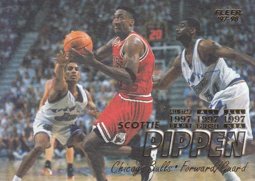 1997-98 fleer scottie pippen bulls
