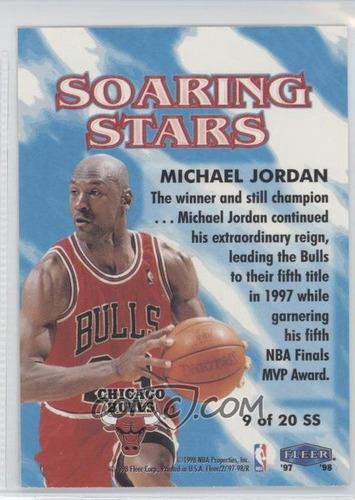 1997-98 fleer soaring stars #9 - michael jordan