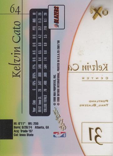 1997-98 skybox e-x2001 rookie kelvin cato tblazers