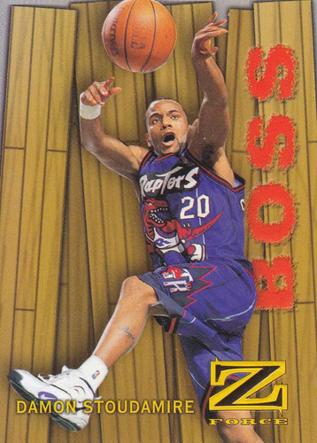1997-98 skybox z-force boss damon stoudamire raptors
