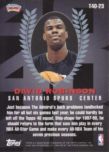 1997-98 topps 40 david robinson spurs