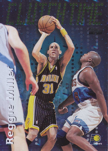 1997-98 topps clutch time reggie miller pacers