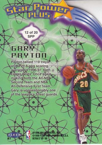 1997-98 ultra star power plus gary payton sonics