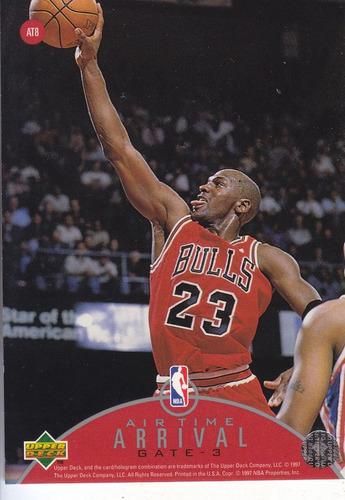 1997-98 upper deck air time michael jordan at8 bulls