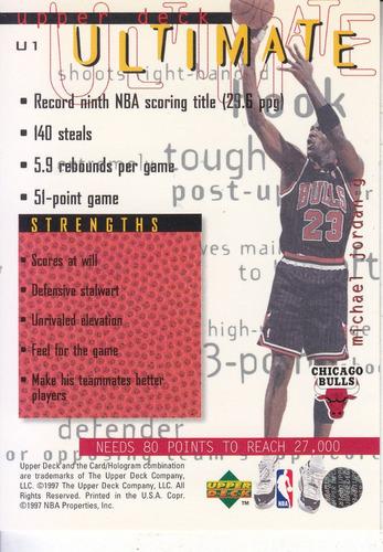 1997-98 upper deck ultimates michael jordan bulls