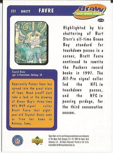 1997 choice draw brett favre qb packers #231