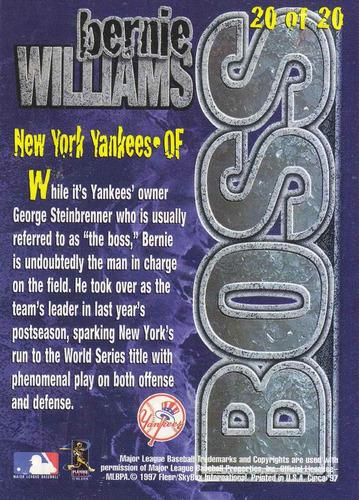 1997 circa boss embossed bernie williams of yankees