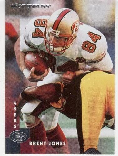 1997 donruss brent jones san francisco 49ers