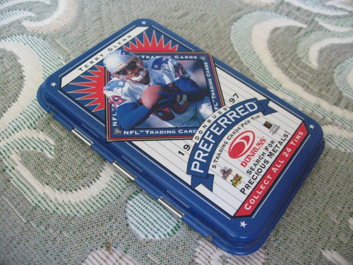 1997 donruss preferred collectible tin terry glenn patriots