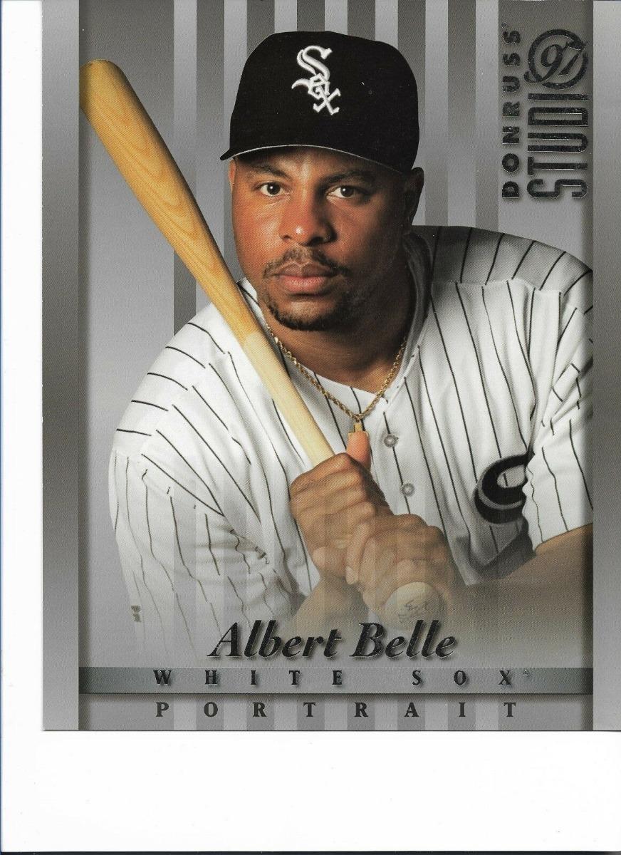 1997 Donruss Studio 8x10 Card 9 Albert Belle White Sox Bs 2000000