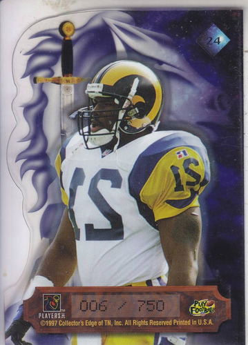 1997 excalibur crusades dc lawrence phillips rams /750