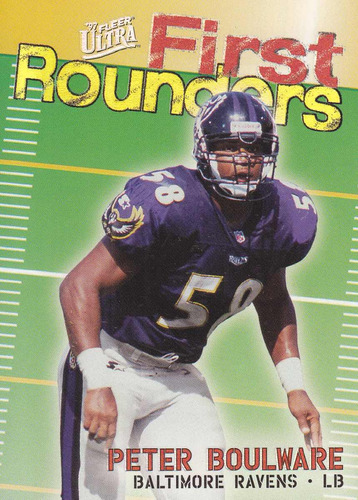 1997 fleer ultra first rounders peter boulware lb ravens