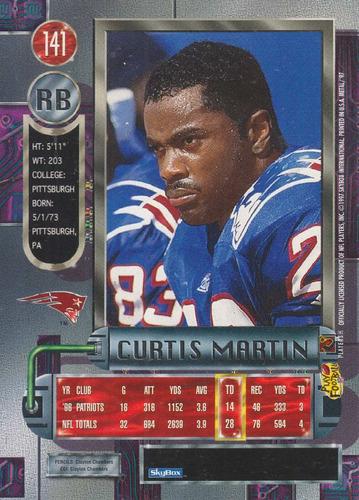 1997 metal universe curtis martin rb patriots