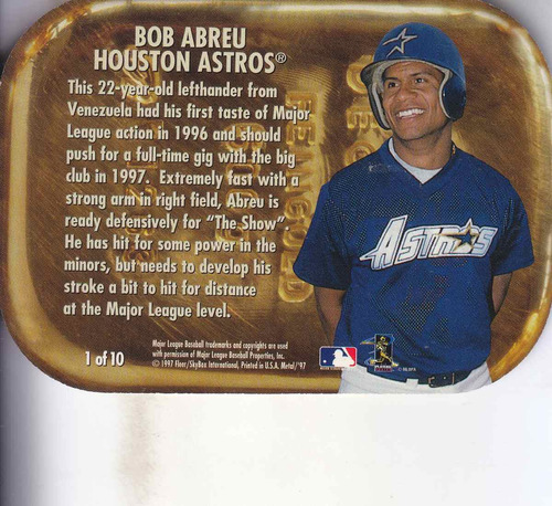 1997 metal universe mining for gold bob abreu astros