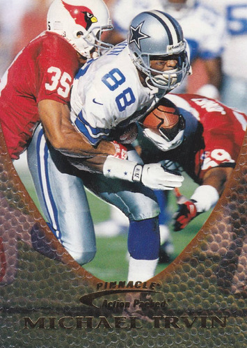 1997 pinnacle action packed michael irvin wr cowboys