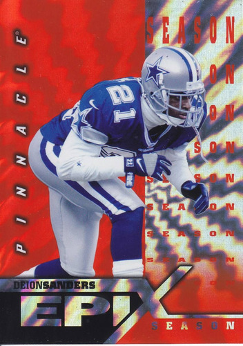 1997 pinnacle epix deion sanders cowboys