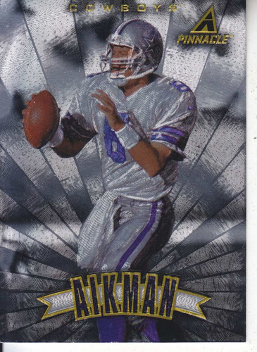 1997 pinnacle trophy collection troy aikman qb cowboys