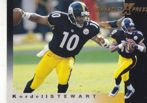 1997 pinnacle xpress kordell stewart qb steelers