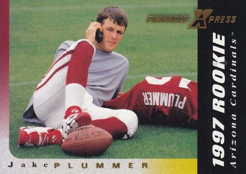 1997 pinnacle xpress rookie jake plummer qb cardinals