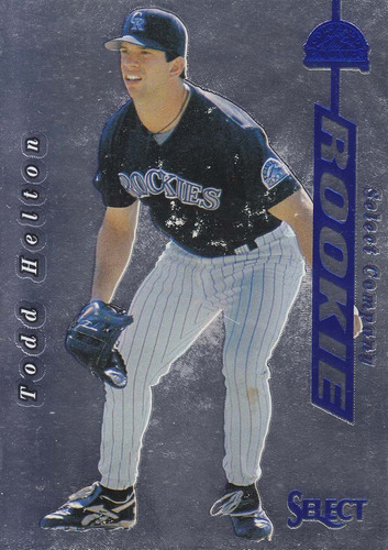 1997 select blue company rookie todd helton rockies
