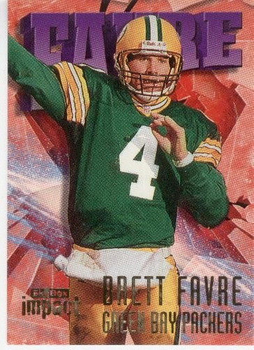 1997 skybox impact brett favre green bay packers qb