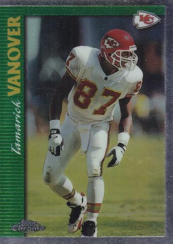 1997 topps chrome tamarick vanover wr chiefs