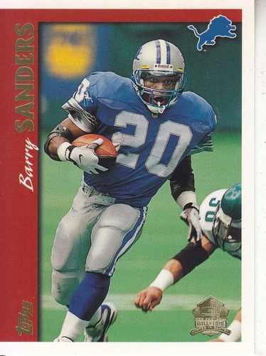 1997 topps minted in canton barry sanders rb lions