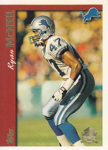 1997 topps minted in canton ryan mcneil cb lions