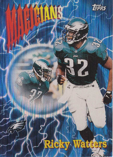 1997 topps season's best magicians ricky watters rb eagles