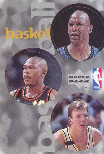 1997 ud choice italian sticker 3 nba players rik smits