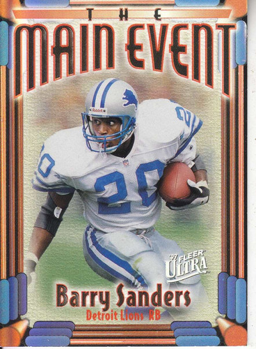 1997 ultra main event barry sanders rb lions