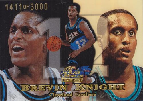 1998-99 flair showcase row 1 rookie brevin knight cavs /3000