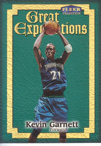 1998-99 fleeer great expectations kevin garnett twolves