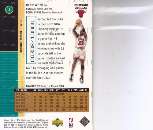 1998-99 spx finite michael jordan bulls /10000